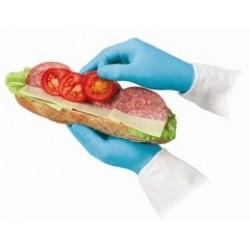 食品級靈巧貼合藍色丁晴手套